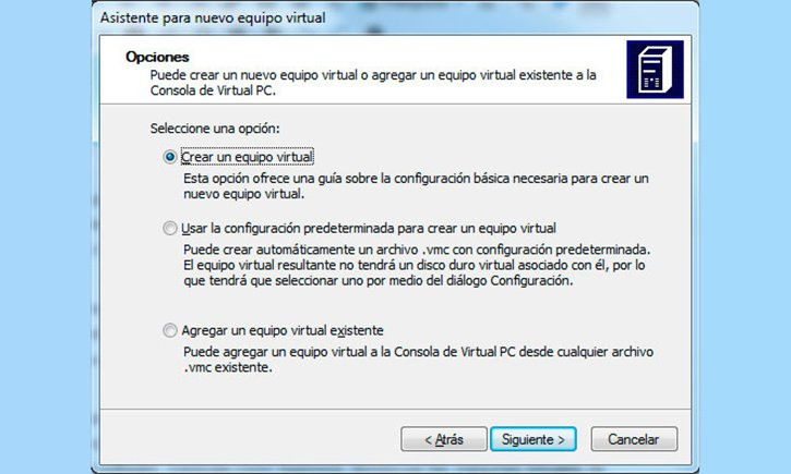 maquina virtual con virtualpc