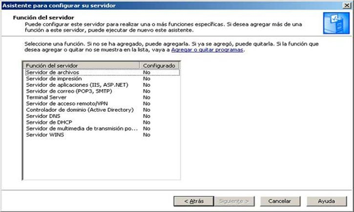 Servicios de Windows Server 2003 R2