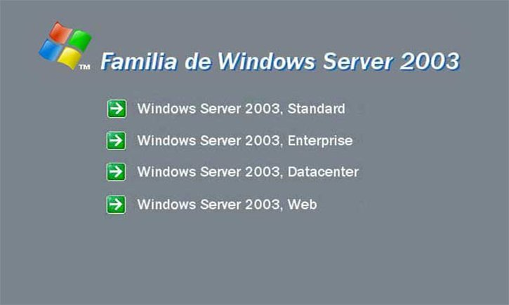 versiones de windows 2003 r2