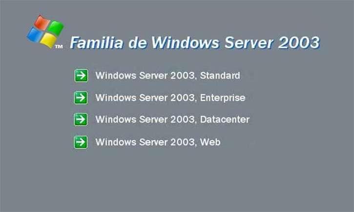 Versiones de Windows 2003 R2