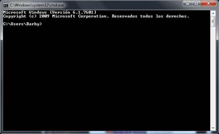 interfaz de linea de comandos CLI en el sistema operativo